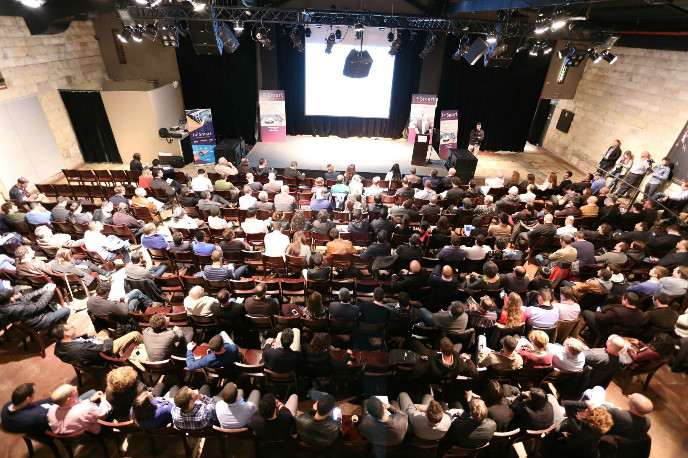 Entrepreneurs, investors, companies, designers and technologists came to Jerusalem to learn about the future of IoT. (Photo: Maxim Golovanov