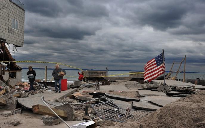 Hurricane Sandy caused serious damage to buildings in Brooklyn, New York, in 2012. (Shutterstock.com)