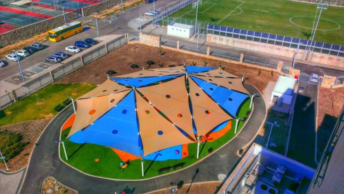 An aerial view of the new Extreme Park in Acre.