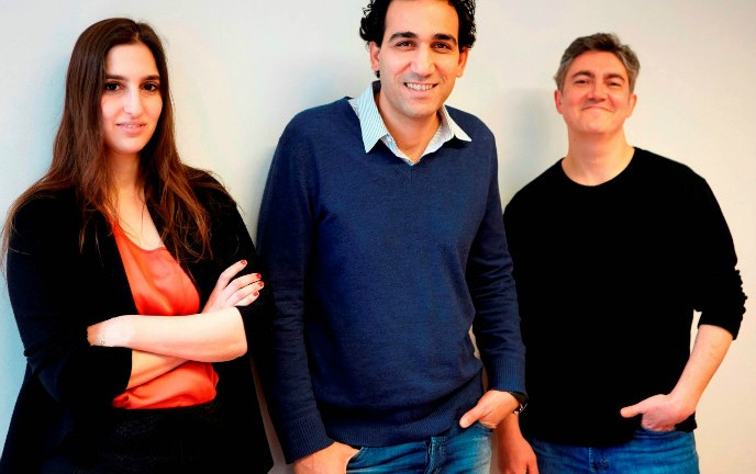 The ICONYC Labs founders, from left, Sharon Mirsky, Eyal Bino and Arie Abecassis.