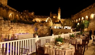 A wedding at the Tower of David is expensive but spectacular. Photo by Yifat Yogev Dadon
