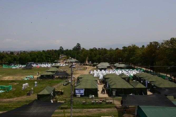 The IDF's field hospital comprises a complex of tents offering trauma, pediatrics, OB/GYN, medical, surgical, orthopedic and intensive care. Photo by IDF Spokesperson via FLASH90