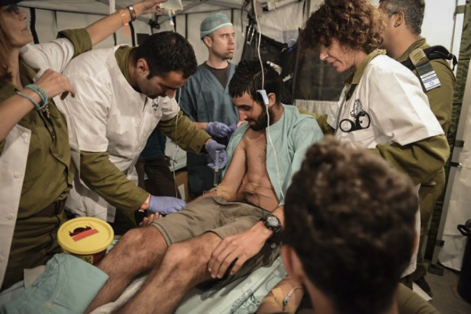 Hundreds of casualties have been tended at the IDF field hospital in Kathmandu. Photo by IDF Spokesperson via FLASH90