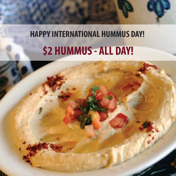 $2 hummus on offer in Santa Monica.