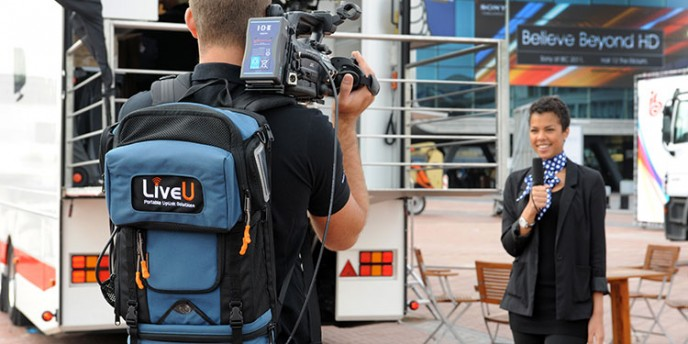 LiveU technology in action.