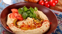 Hummus, a nutritious bean dip, is one of Israel's favorite dishes. Photo via www.Shutterstock.com