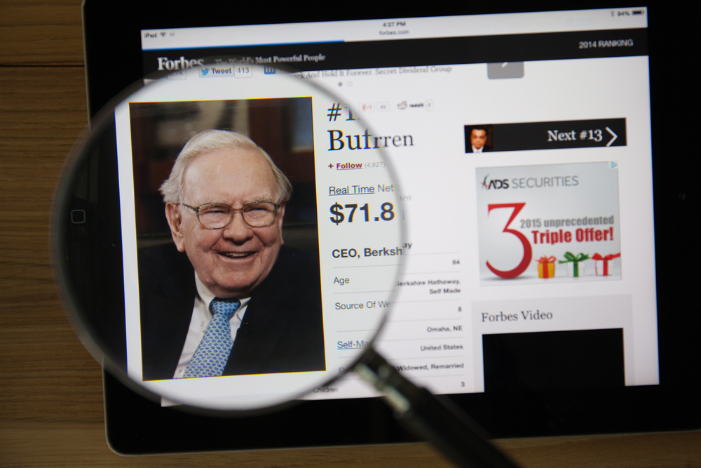 American billionaire Warren Buffett invests in eVolution Networks. (Shutterstock)
