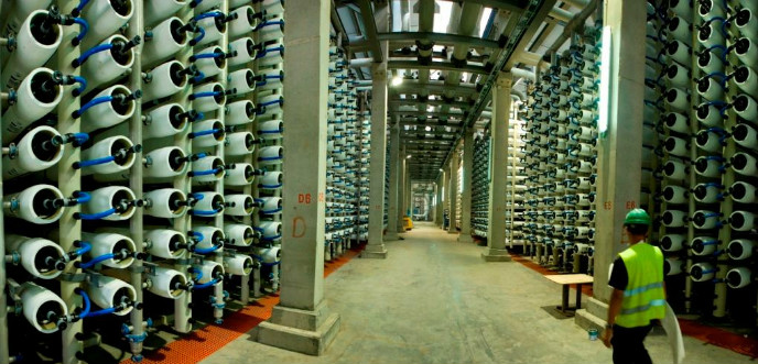 IDE Technologies' desalination plant in Hadera, Israel.