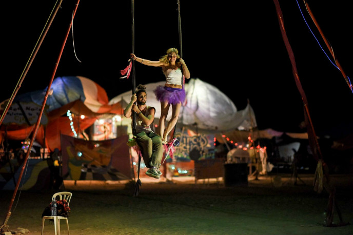 Each camp has a different theme. (photo of couple of swing) Photo by Ben Kelmer/Flash90.