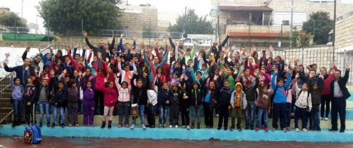 Many kids turned out for the opening of Bakehila's learning-and-enrichment center in the Arab neighborhood of Beit Safafa.