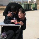 ALEH-Negev, prisoner volunteers, helping the disabled