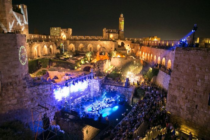 Music at Sultan's Pool. Photo by Jerusalem Municipality