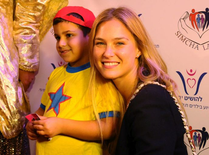 Bar Refaeli at a Purim charity event for children diagnosed with cancer. Photo by Yossi Zeliger/FLASH90