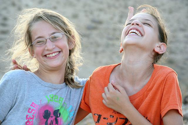 Sharing a laugh. (Photo: Darryl Egnal)