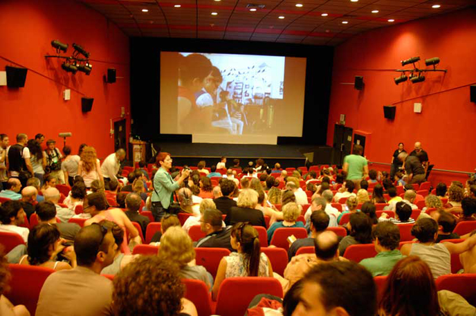 Audiences pack the Sderot Cinematheque for the South Film Festival. (Photo from Festival website http://csf.sapir.ac.il)