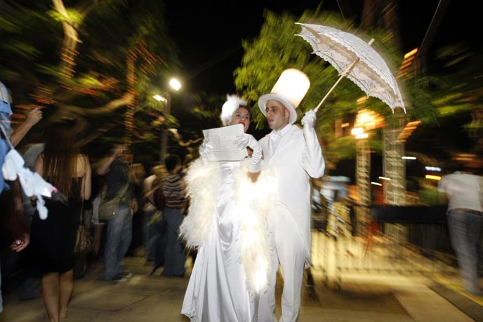 Tel Aviv celebrates 'White Night.' (Flash 90)