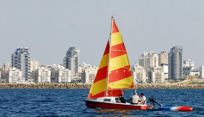 Sailboat in the Mediterranean at Ashdod. Photo by Rafael Ben Ari/Tourism Ministry