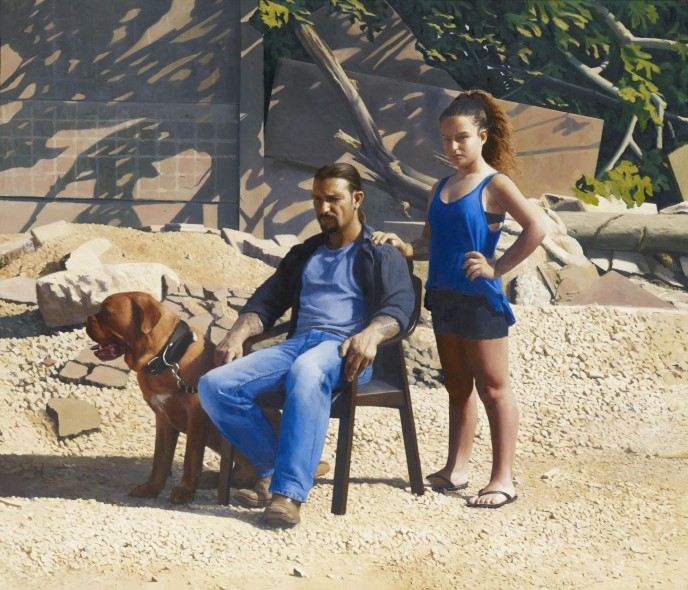 'Annabelle and Guy' by Matan Ben-Cnaan, winner of the 2015 BP portrait award.  (Photo: Matan Ben-Cnaan/National Portrait Gallery/PA)