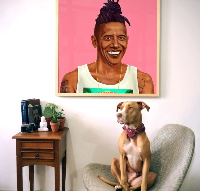 US President Barack Obama as a modern-day hipster. (Courtesy of Amit Shimoni)