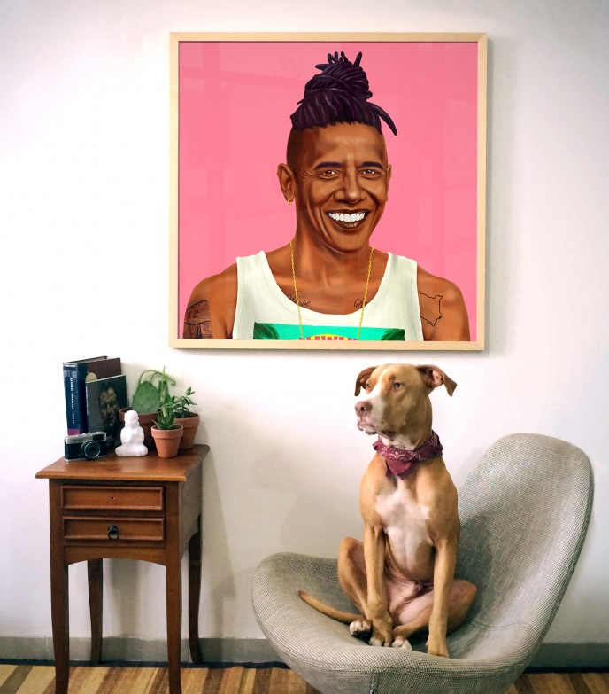 US President Barack Obama as a modern-day hipster. (Courtesy of Amit Shimoni)