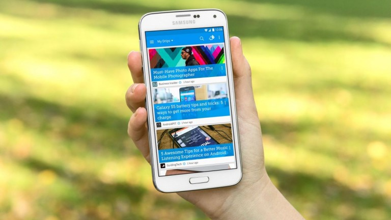 Google selected Drippler as a Must-Have Play App of 2015. Photo courtesy of Drippler