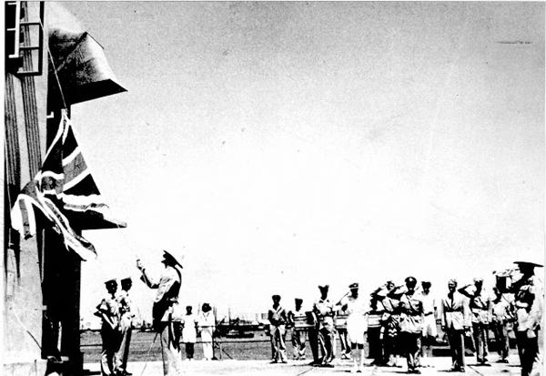 haifa-port-flag-lowered