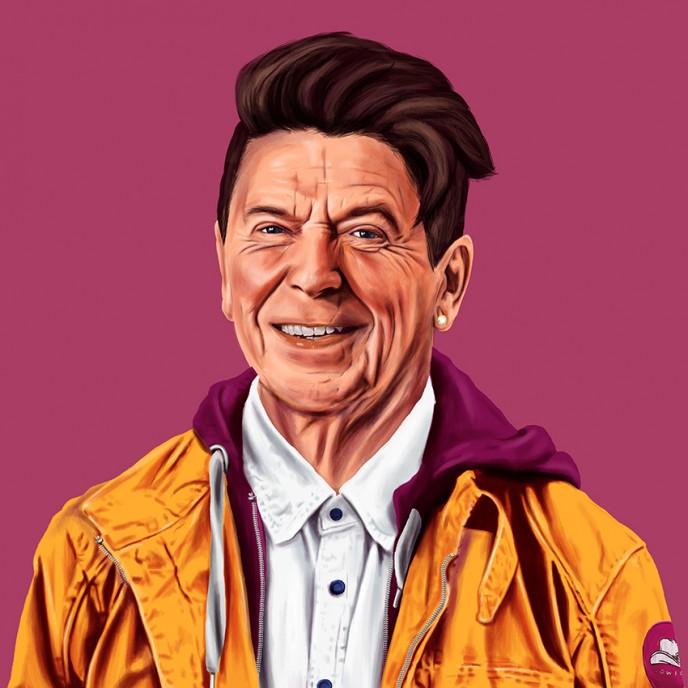 Amit Shimoni gives Ronald Reagan a make-over. (Courtesy)