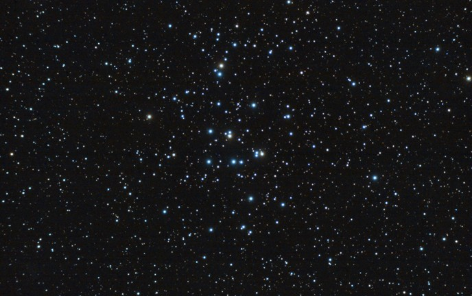 Shown here is a stars cluster similar to the new Cloud D discovery. (Shutterstock)