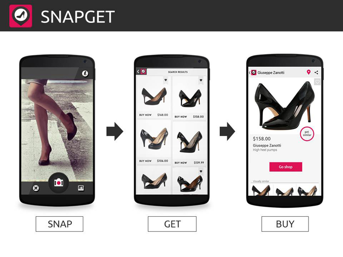 Visual search meets shoe shoppers.