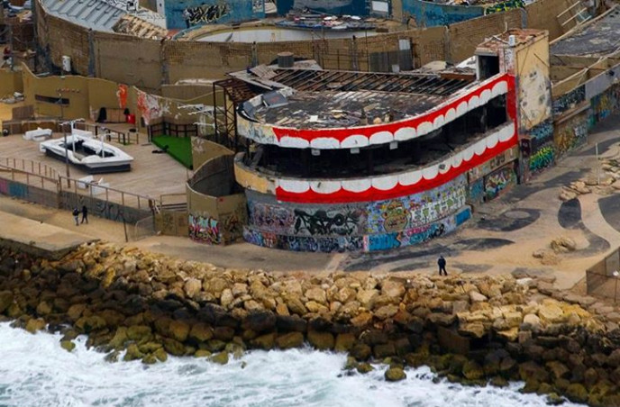The Dolphinarium complex has long been an eyesore in Tel Aviv. Photo credit www.imdede.com