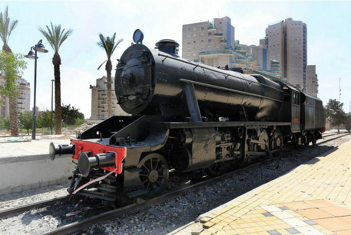 The Beersheva Train Yard is along the guided walking route.