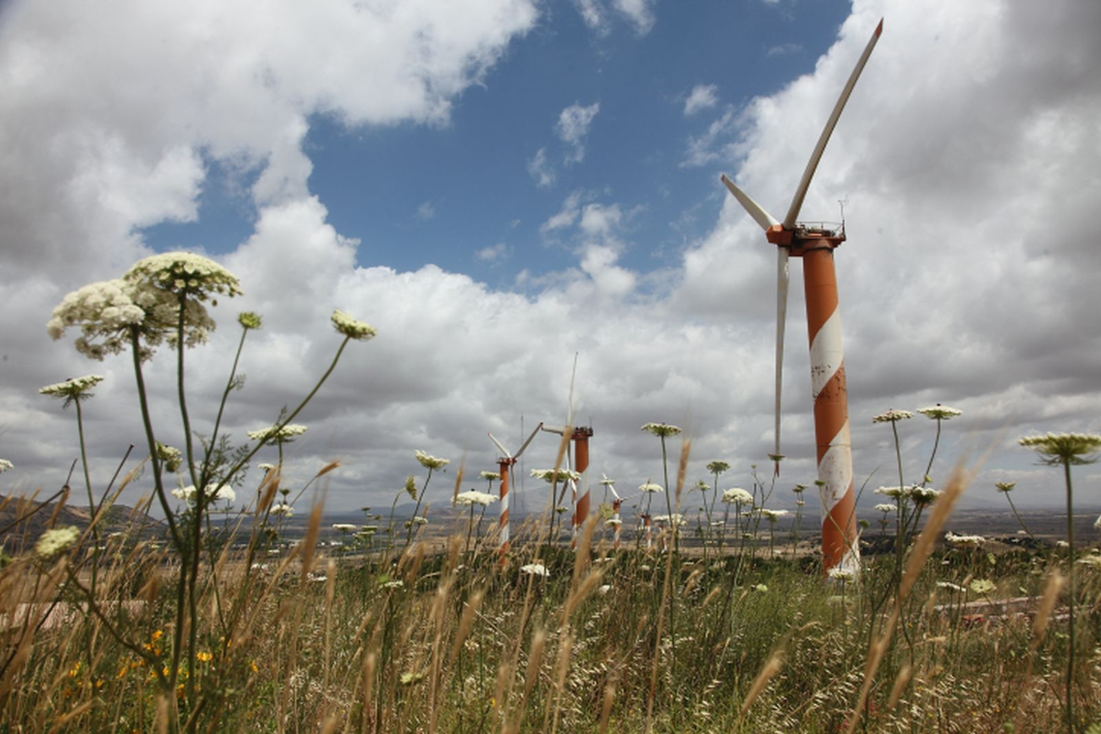 Wind turbines in the Golan Heights. Photo by Yossi Aloni/FLASH90