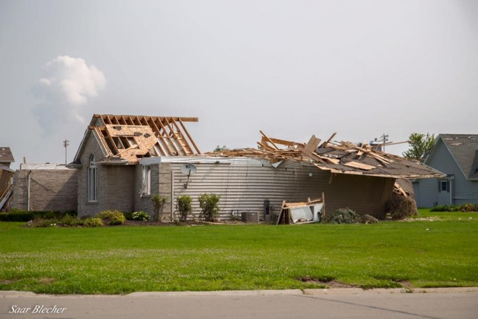 A home damaged in Coal City tornado. (Photo: The Israel Forum for International Humanitarian Aid – Facebook)
