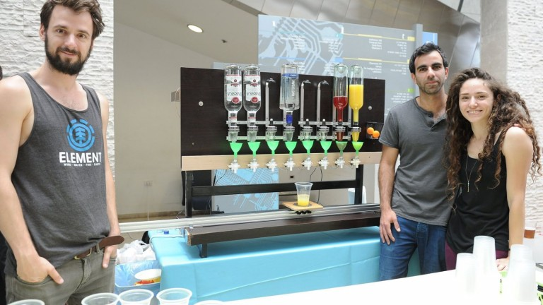Robodrink photo courtesy of the Technion.
