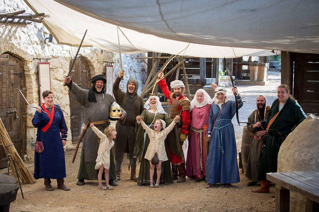 Even kids can be part of living history, Crusader style. Photo via Facebook