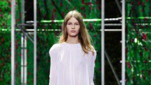 Sofia Mechetner on the Paris Fashion Week runway. Photo via Christian Dior