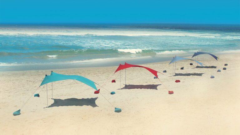 Lots of Otentik sunshades dot beaches. Photo: courtesy
