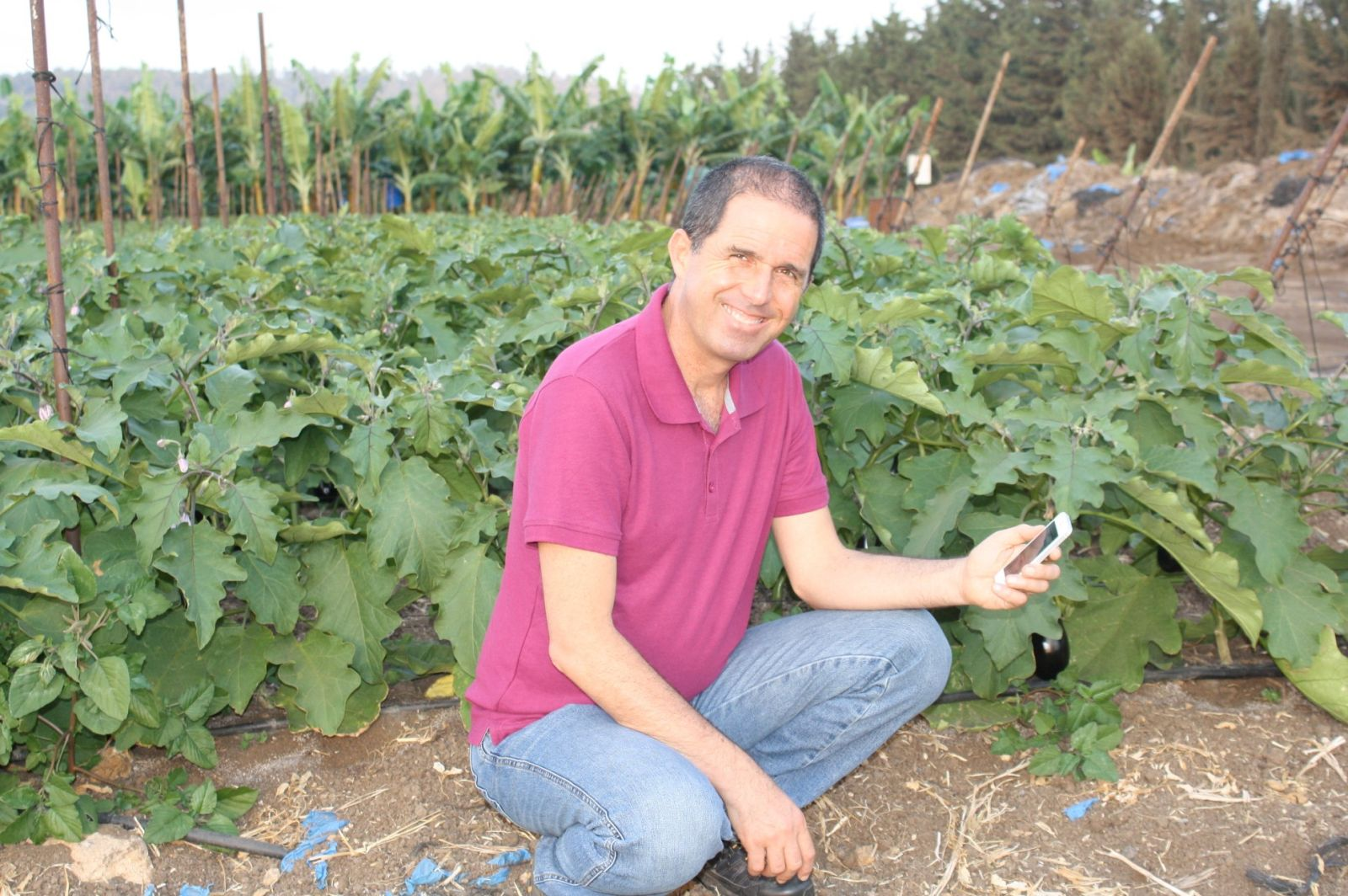 CropX CEO Isaac Bentwich in the field. Photo courtesy of CropX