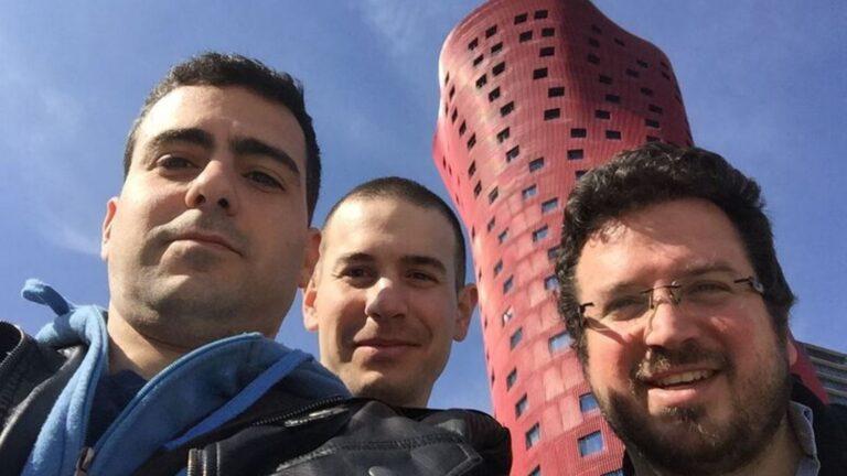 DOV-E cofounders, from left, Noam Ben-Ari, Nir Palombo and Yehuda Yehudai. Photo courtesy of DOV-E