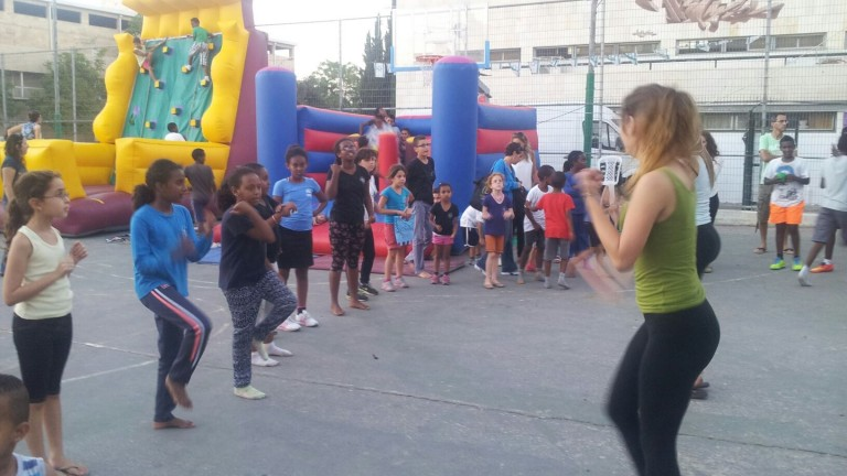 A Bakehila carnival for children in Jerusalem's Talpiot neighborhood. Photo courtesy of JVP Community