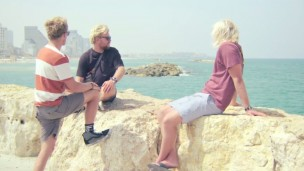 The Gudauskas brothers in Tel Aviv. Photo courtesy Down Days