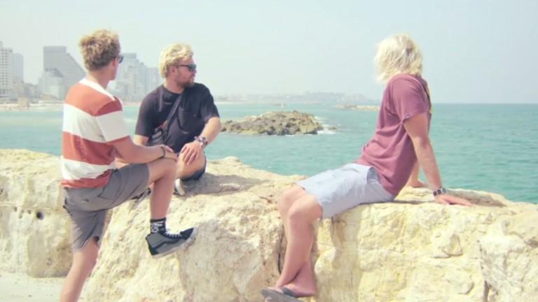 The Gudauskas brothers in Tel Aviv. Photo courtesy Down Days