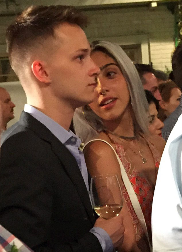 Lourdes Leon and her boyfriend at a wedding in Tel Aviv. (Photo: Smarp.com)