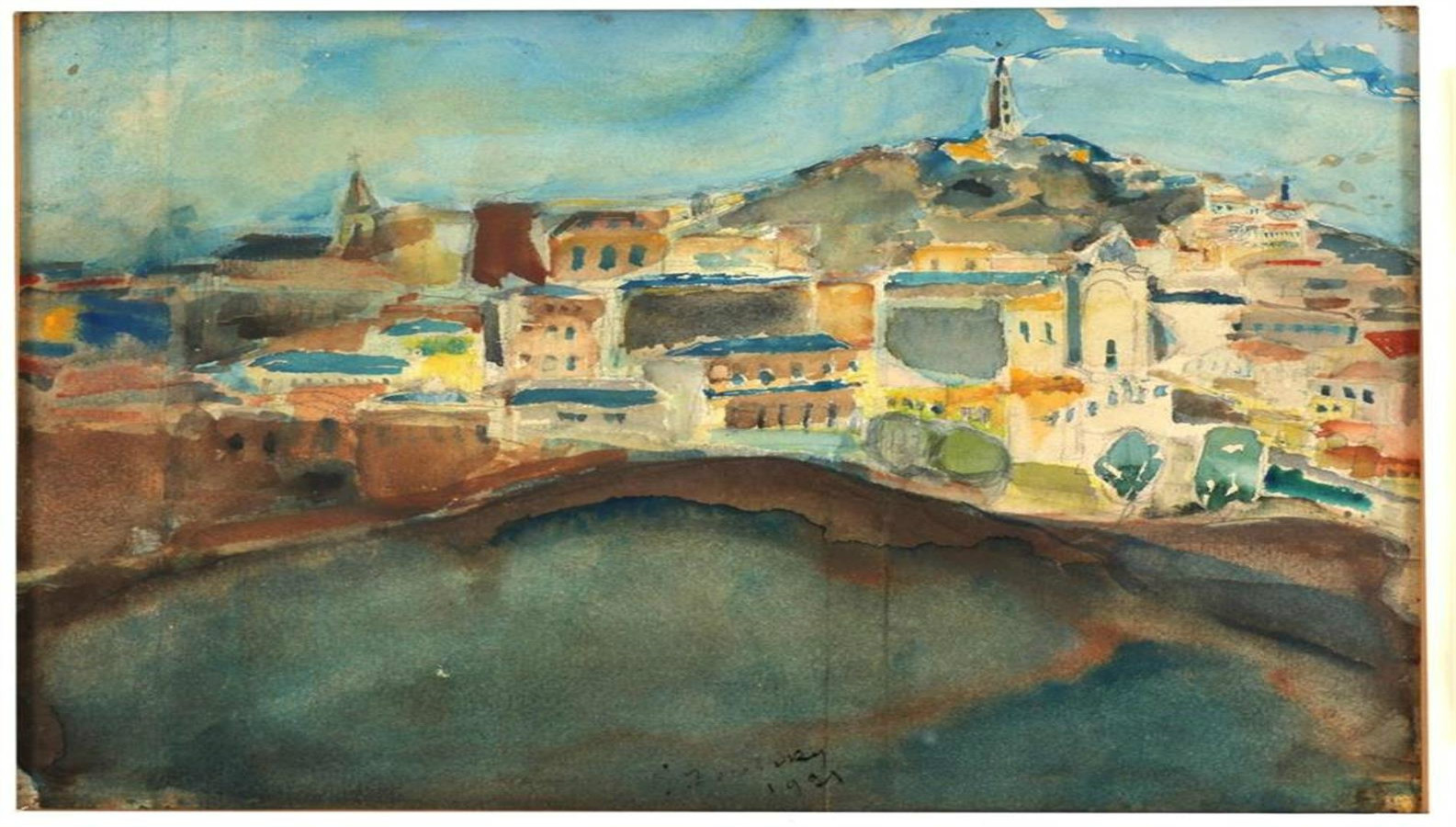 """Jerusalem Landscape 1925-27"" by Yosef Zaritsky is housed at The Bar-David Museum of Art and Judaica on Kibbutz Baram in the Galilee. Photo by Ron Erde"