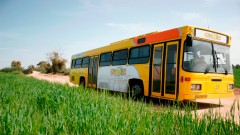 The Ofanim buses can reach where other afterschool programs cannot afford to go. Photo courtesy of Ofanim