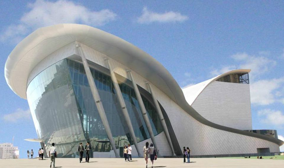 Ashdod Performing Arts Center was designed by Haim Dotan
