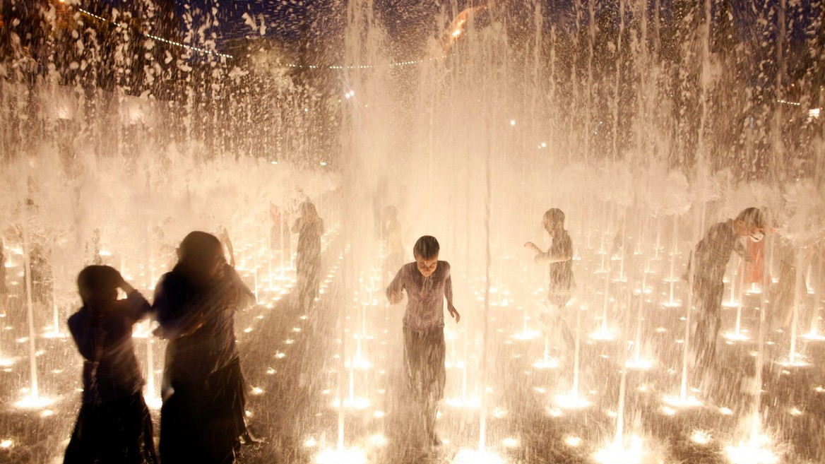 Fountains in Jerusalem. Photo via Flash90