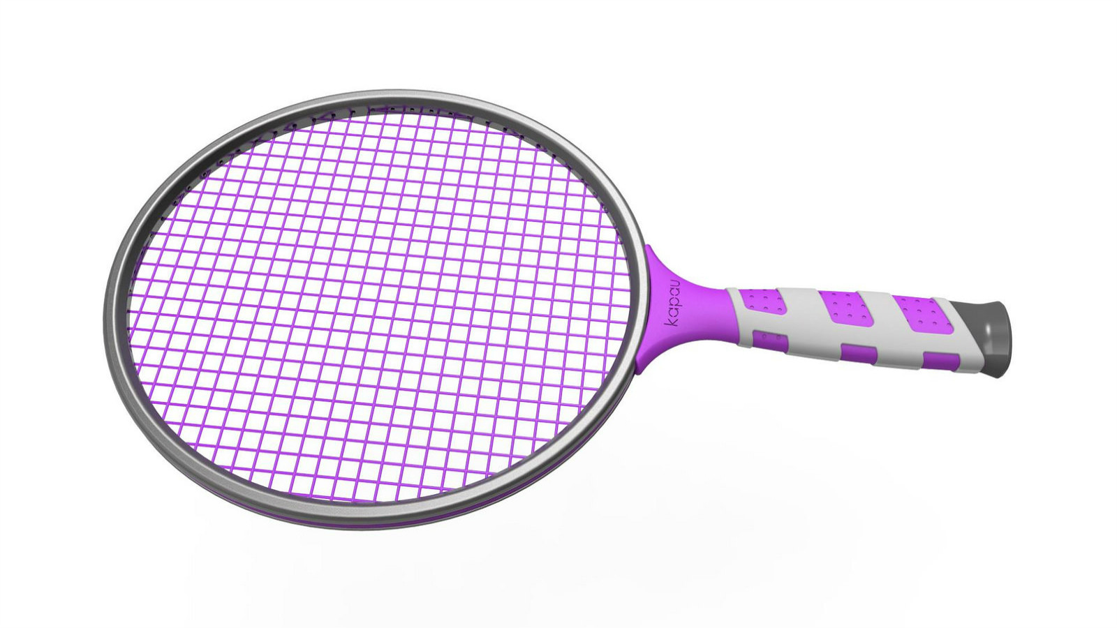 The carbon racket is smaller than a tennis racket and a bit bigger than the standard wooden matkot paddle. Photo: courtesy
