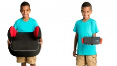 Even a kid can carry around a Mifold Grab-and-Go seat. Photo: courtesy