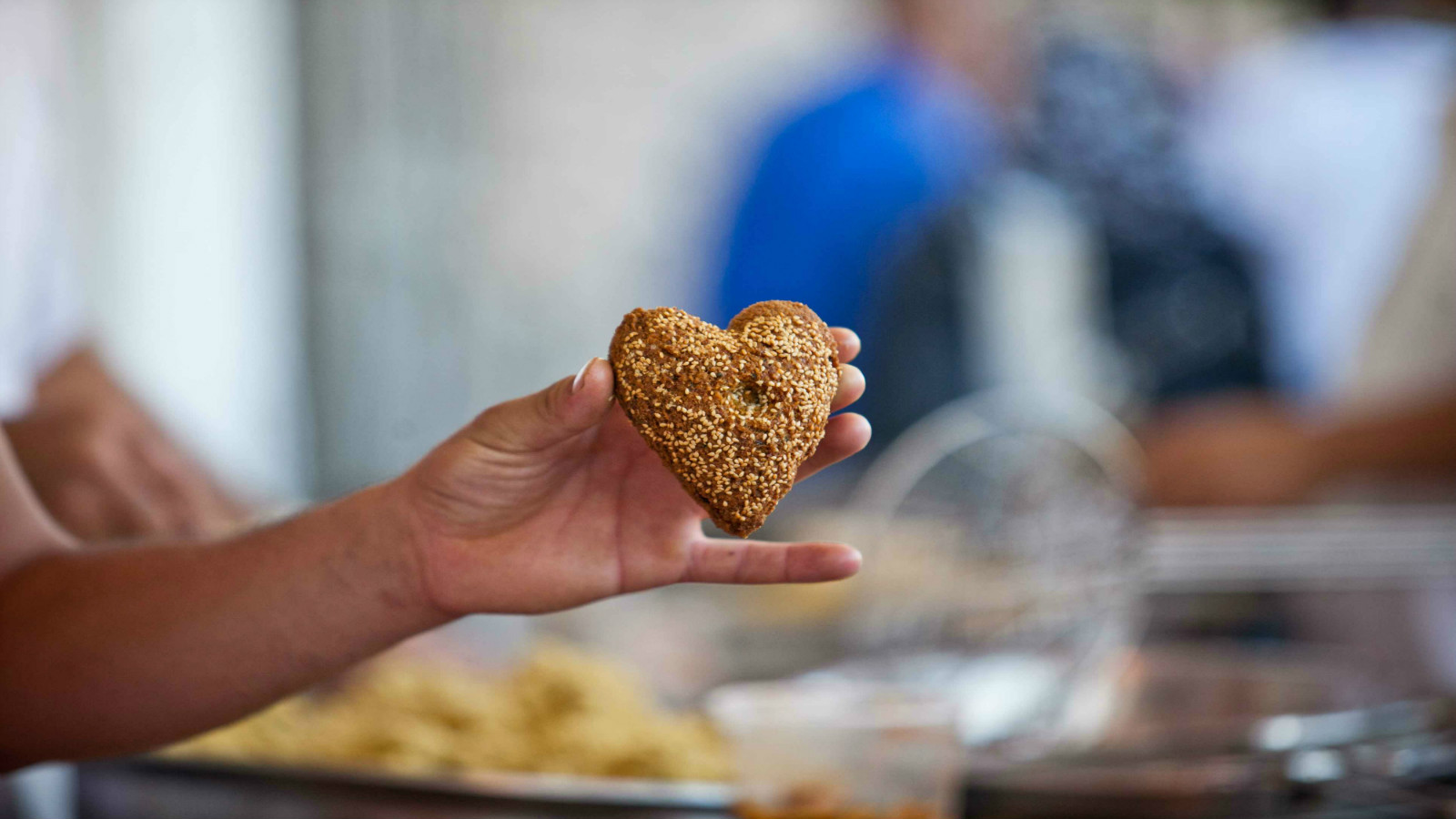 Barazek pistachio-sesame cookies are prepared for the daily Ramadan break-fast. Photo by Noam Moskowitz/FLASH90